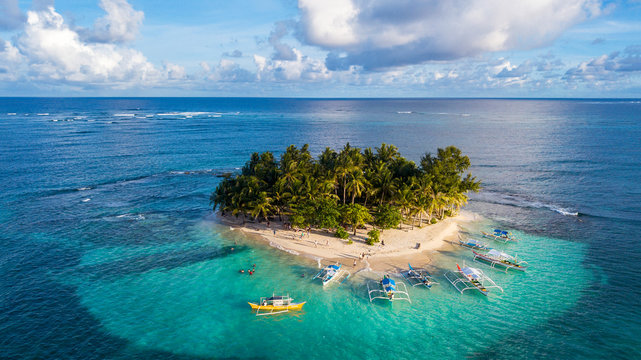 Paradise Siargao Island Philippines aerial  view