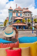 femme à Caudan Waterfront, Port-Louis, Île Maurice