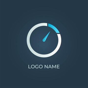 "Letter ""O"" clock isolated. Alphabet vector"