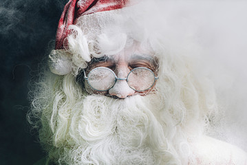 Portrait of Santa Claus with glasses
