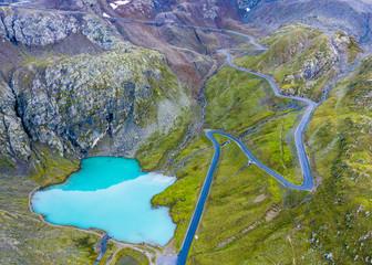 Austria, Tirol, Kauner Valley Glacier Road and Lake Weisssee