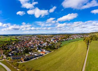 Aerial view  Neresheim, Baden-Wuerttemberg, Germany