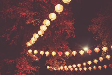 Red chinese lanterns. Chinese New Year