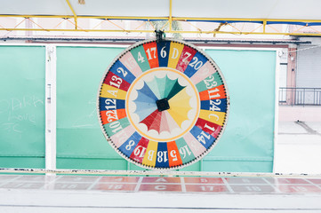 Front view of spin wheel