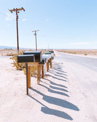 Mailboxes along road