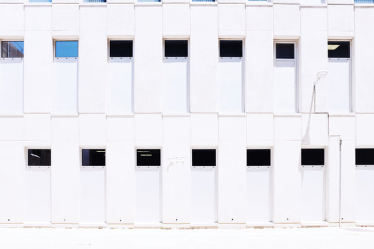 Front view of white wall