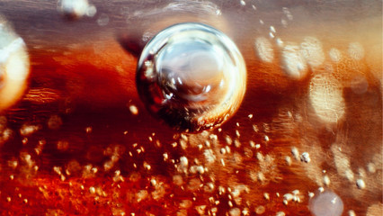 Close up of  Bubbles in Maple Syrup