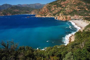 Papiers peints Bleu vert Golfe de Porto, Corse, France