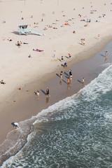 Aerial view of people enjoying beach