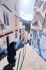 Photo sur Aluminium Street in medina of blue town Chefchaouen, Morocco.