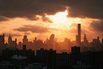 Scenic view of  New York City