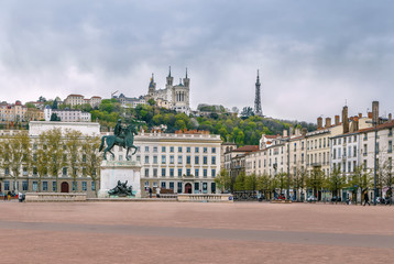 Fotomurales - Place Bellecour, Lyon, France