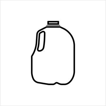 Gallon Of Milk Icon, Big Plastic Bottle
