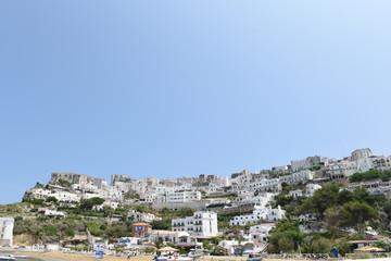 Panoramica di Peschici vista dal mare