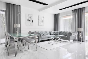 Charming gray living room