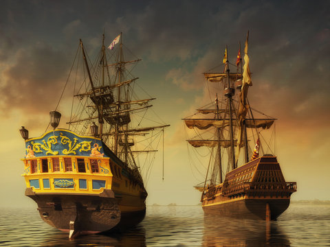 Two historic ships