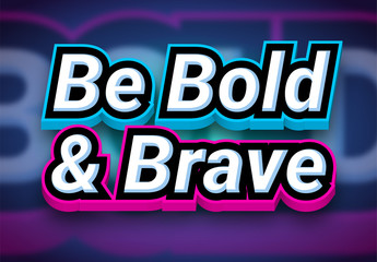 Thick Bold Colorful Text Effect
