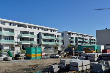 Baustelle für Neue Wohnungen