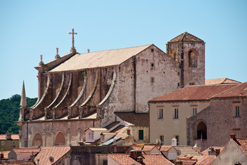 Velika Gospa Cathedral in the old town, Dubrovnik, Croatia, Europe
