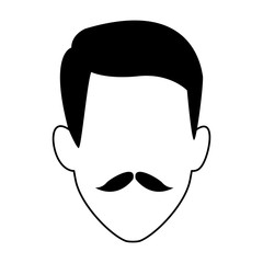 avatar man with mustache icon