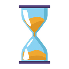 hourglass icon, flat colorful design