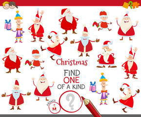 one of a kind game with Santa Claus characters
