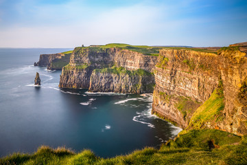 Cliffs of Moher Ireland sunset sun light Irish landmark amazing beautiful view