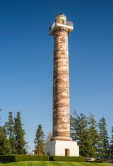 The Astoria column a timeline depiction.