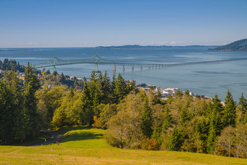 The Astoria bridge and bay from above.