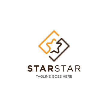 star logo and icon vector illustration design template