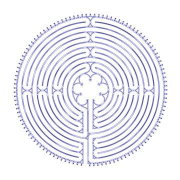 Chartres Labyrinth Illustration 11- Circuit