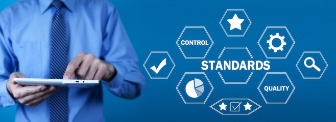Concept Of Standards. Quality Control. Business concept