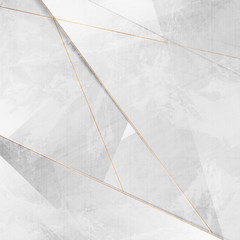 Grey grunge corporate abstract background with golden lines. Vector illustration