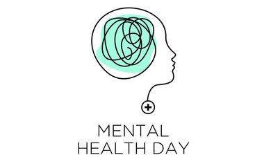 mental health depression awareness illustration vector banner