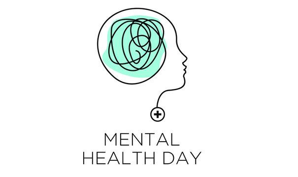 mental health depression awareness illustration vector banner