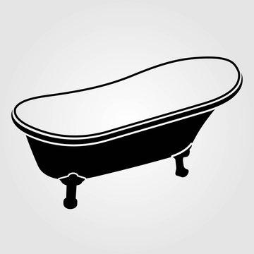 Bathtub icon isolated on white background. Vector illustration