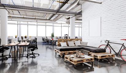 3d modern business office interior