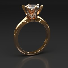 3d diamond ring jullery