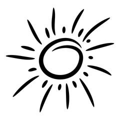 Design elements funny doodle sun