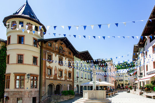 Town center of Berchtesgaden in Bavaria