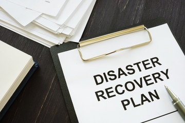Conceptual photo showing printed text Disaster recovery plan