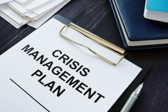Conceptual photo showing printed text Crisis management plan