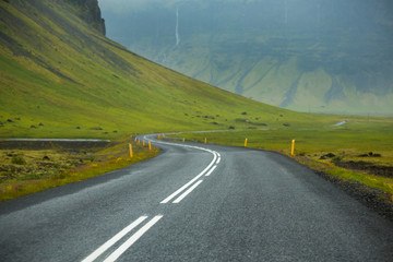 Picture of winding road In Iceland