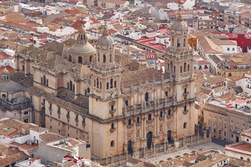 Spanish tourist destination. Jaen cathedral. Travel in Spain