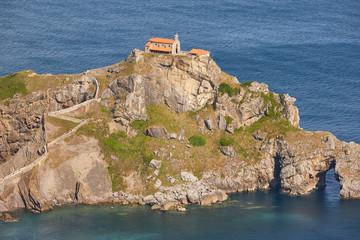 San Juan de Gaztelugatxe chapel in Basque country coastline. Spain