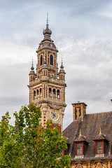 The Beautiful Belfry Bell Tower in the City of Lille, France