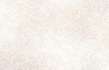 Light beige curls plexus pattern. Pastel twirls background. Subtle ornament texture. Creamy exquisite template.