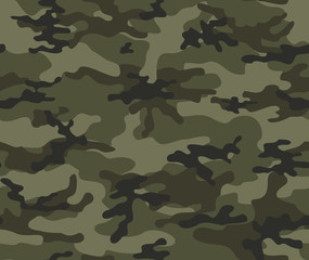 Abstract camouflage military seamless vector pattern.