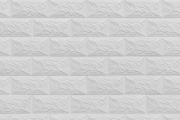 White decorative wall from brickwork background texture.