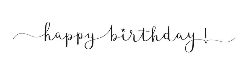 HAPPY BIRTHDAY! black vector calligraphy banner